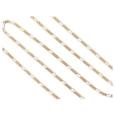 "Solid 3:1 Figaro Link Chain 18k Gold, 18"" Length, 4.5 Grams"