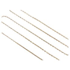 """Long Cable Link Chain 14k Gold 23 3/4"""" Length, 4.5 Grams"""