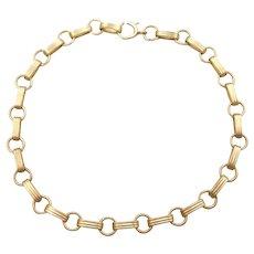 """7"""" 14k Gold Link Bracelet"""