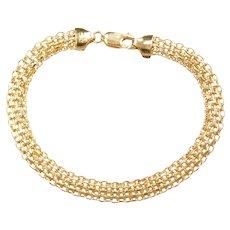 """7 1/8"""" 10k Gold Woven Mesh Bracelet"""