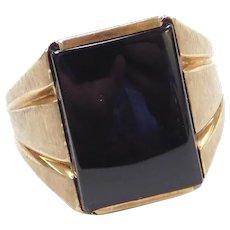 10k Gold Men's Onyx Ring