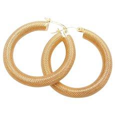 9k Gold Hoop Earrings