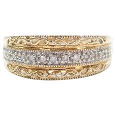 10k Gold Diamond MOM Ring