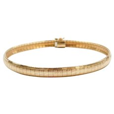 "7"" 14k Gold Diamond Cut Bracelet"