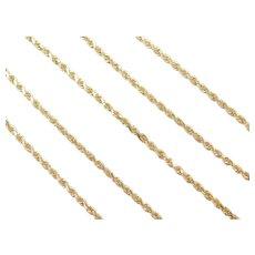 "22"" 14k Gold Diamond Cut Rope Chain ~ 10.2 Grams"