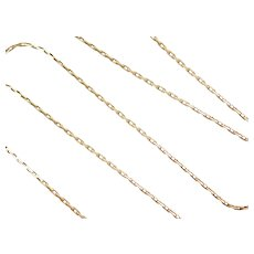 """15 3/4"""" 14k Gold Link Chain ~ 3.0 Grams"""