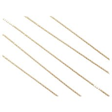 "18"" 14k Gold Box Chain ~ 3.5 Grams"
