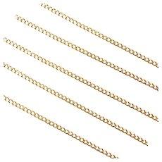 "23"" 18k Gold Curb Link Chain ~ 6.0 Grams"