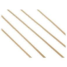 "24"" Long 18k Gold Curb Link Chain ~ 6.6 Grams"