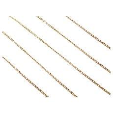 """17"""" 18k Gold Thin Curb Link Chain ~ 1.8 Grams"""