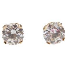 14k Gold 1.80 ctw Faux Diamond Stud Earrings