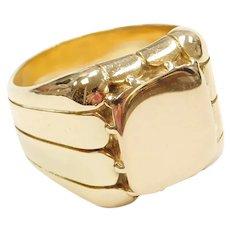 18k Gold Men's Signet Ring