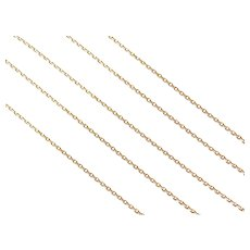 "20"" 14k Gold Diamond Cut Cable Chain ~ 3.1 Grams"