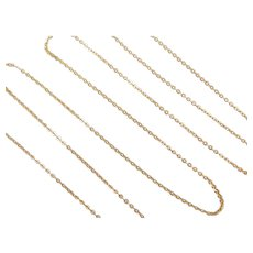 "25 1/2"" Long 18k Gold Cable Link Chain ~ 2.6 Grams"