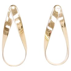 Teardrop Earring Jackets 14k Gold