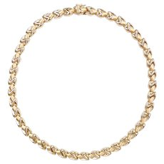 "Stampato Link Necklace 14k Gold 17"" Length, 26.6 Grams"