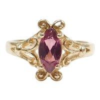 14k Gold Rhodolite Garnet Ring