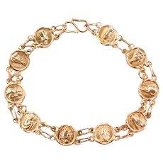 """6"""" 14k Gold Religious Bracelet"""