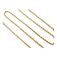 "17 3/4"" 14k Gold Rope Chain ~ 9.6 Grams"