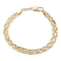 """7 3/4"""" 14k Gold Woven Bracelet"""