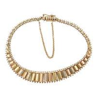 """7"""" 14k Gold Tri-Color Bracelet"""