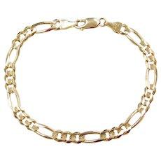 """7"""" 14k Gold Figaro Link Bracelet"""