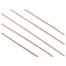 """Long Solid Curb Link Chain 10k Gold 25"""" Length, 6.1 Grams"""