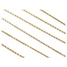 "30"" Long 14k Gold Diamond Cut Rope Chain ~ 14.3 Grams"
