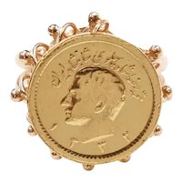 World Coin 90% Gold Ring 18k Gold Setting
