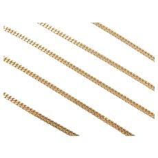 "25"" Long 14k Gold Curb Link Chain ~ 17.5 Grams"