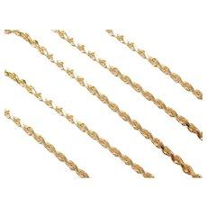 "24"" Long 14k Gold Diamond Cut Rope Chain ~ 21.5 Grams"