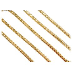 """24"""" Long 14k Gold Round Curb Link Chain ~ 51.3 Grams"""