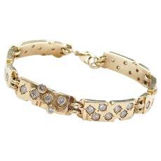 "7 5/8"" Men's Heavy 14k 3.84 ctw Diamond Bracelet"