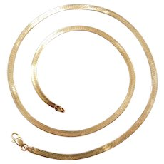 "18"" 14k Gold Herringbone Chain ~ 7.2 Grams"