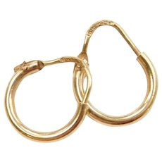 18k Gold Tiny Hoop Earrings