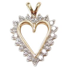 10k Gold .40 ctw Diamond Heart Pendant