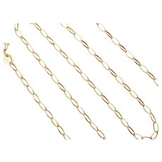 "18"" 18k Gold Oval Link Chain ~ 3.7 Grams"