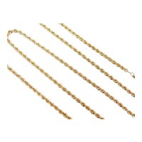 """18"""" 14k Gold Rope Chain ~ 9.2 Grams"""