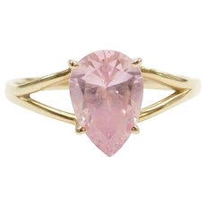 14k Gold Pink Ice Ring