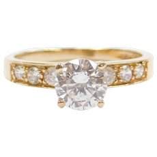 14k Gold Faux Diamond Engagement Ring