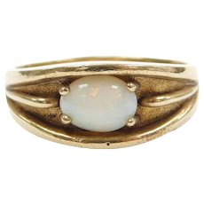 14k Gold Men's Opal Ring