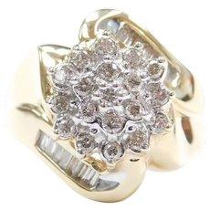 .66 ctw Diamond Cluster Ring 14k Gold
