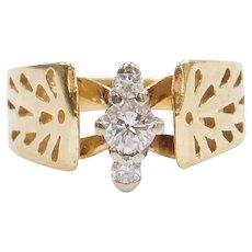 14k Gold .22 ctw Diamond Engagement Ring