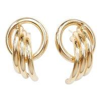 14k Gold BIG Earrings