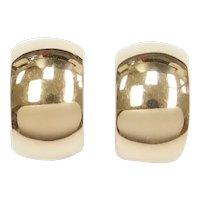 14k Gold Hinged Clip On Hoop Earrings