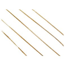 "17"" 14k Gold Box Chain ~ 3.0 Grams"