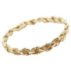 14k Gold Rope Band Ring