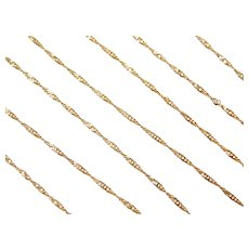 "24"" Long 14k Gold Singapore Chain ~ 2.2 Grams"