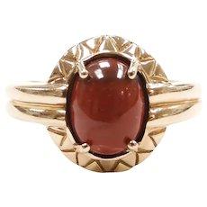 Red Jasper Ring 10k Gold
