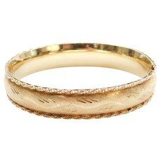 14k Gold Hinged Bangle Bracelet